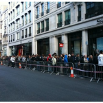 Queues at Regent Street this morning