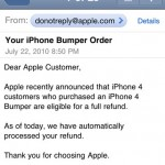 Apple is refunding iPhone 4 bumper purchases