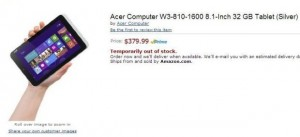 Acer's 8 Inch Windows 8 Tablet Shows Up On Amazon