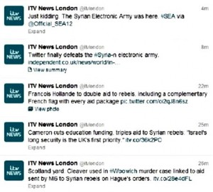 Hacker Group Syrian Electronic Army Attacks ITV News Twitter's Account