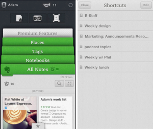 Evernote Upgrades iOS App, New features include Shortcuts And Related Notes