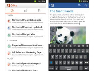 Microsoft Office Mobile Comes To Android Smartphones Running Android 4.0 Or Higher